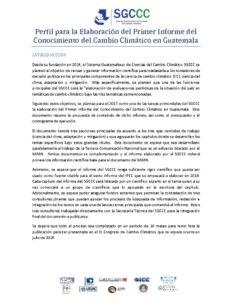 thumbnail of 1er Informe del Conocimiento del Cambio Climatico