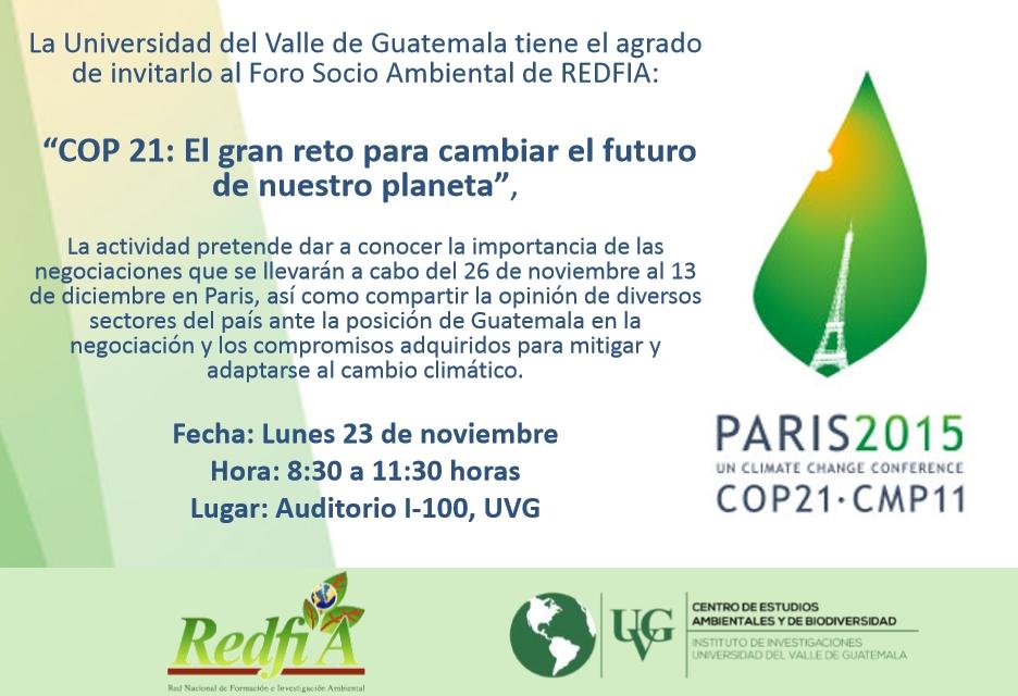 Foro Expectativas de la COP 21 y el Acuerdo de París